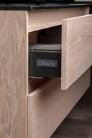 Badkamer badmeubel Allasio hout lade aanzicht