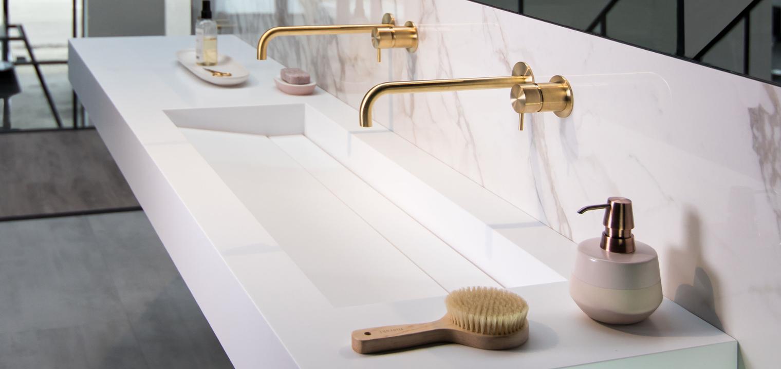Badkamerkranen waterevolution goud