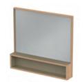 spiegel met planchet hout